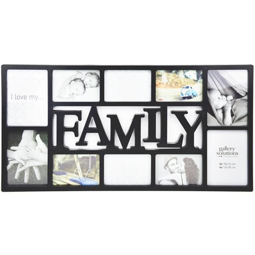 collage rahmen family 10 schwarz collage rahmen bilderrahmen. Black Bedroom Furniture Sets. Home Design Ideas