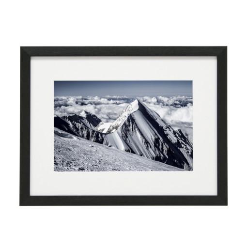 Gerahmtes Bild Mountain Nr12 – Kunststoffrahmen Schwarz
