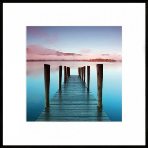 "Nielsen Gerahmtes Bild ""Blue Bridge"" 50,0 x 50,0 cm"