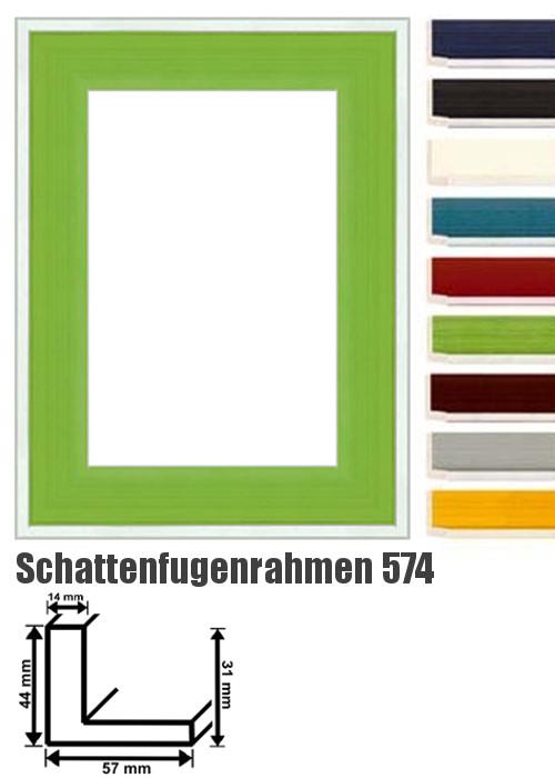schattenfugenrahmen 574 schattenfugen rahmen bilderrahmen. Black Bedroom Furniture Sets. Home Design Ideas