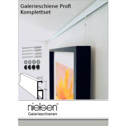 Nielsen Galerieschiene Profi 1,5m, incl. Zubehör