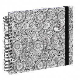 "Spiral-Buch ""Colorare"" 28x24/50 Paisley"