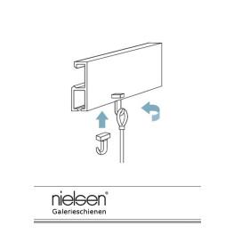 Nielsen Perlonseile mit Schlaufe und Gleithaken