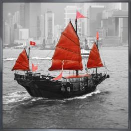 "Nielsen Gerahmtes Bild ""Boot Rot"" 30,0 x 30,0 cm"