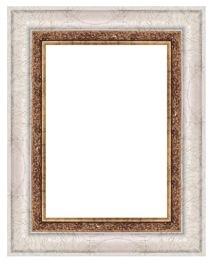 Barockbilderrahmen Weiß Demeter