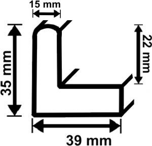 Schattenfugenrahmen Profil