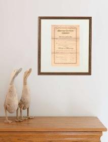 Urkunden und Zertifikate rahmen